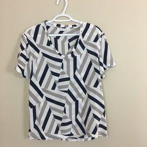 Equipment femme silk short sleeves blouse top XS